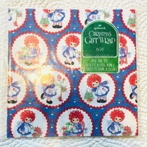 VTG Hallmark Christmas Gift Wrap Wrapping Paper Raggedy Ann Holiday Tree... - $23.16