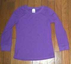 *childrens place purple waffle knit long sleeve pajama top pj jammies me... - $3.47
