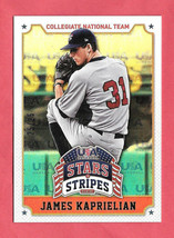 2015 James Kaprielian Panini USA Stars and Stripes Team Logo Gold 25/25 - $1.19