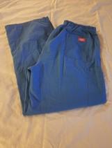 Women's Blue Dickies Scrub Pants Size L with Drawstring - $9.85