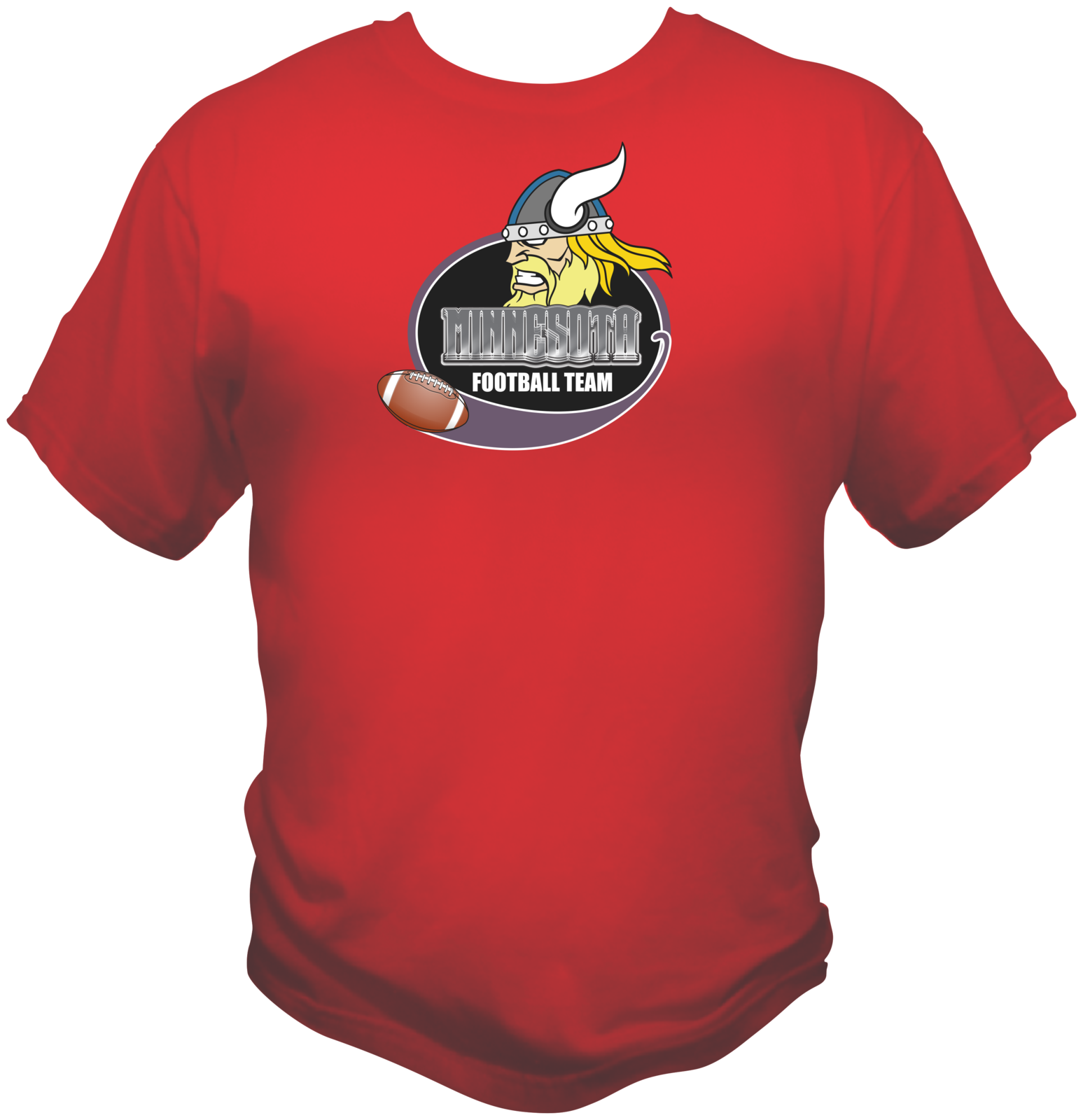 Minnesota Football Team Sports Style Graphic T Shirt Black Red White L XL 2XL