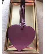 NEW Coach Heart Leather Bag Charm Purple • Primrose • Boxed • Style 21517 • - $22.77