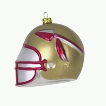 NCAA Florida State Seminoles 3'' Mouth Blown Glass Football Helmet Ornament NEW - $16.36