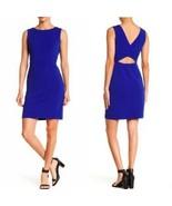 Betsy Johnson Womens Blue Cutout Back Scuba Crepe Dress Sleeveless Size ... - $26.72