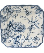 """222 Fifth Adelaide Blue & White 8.5"""" square salad plates - Set of 4 - Op... - $54.99"""