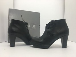La Canadienne Madison Black Leather Women's Lace Ankle Boots High Heels ... - $95.58