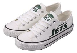 ny jets shoes womens converse style jets sneakers new york football fans gifts - $56.00