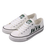 ny jets shoes womens converse style jets sneakers new york football fans... - $80.00