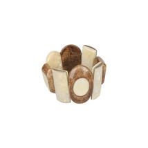 Authentic PELLINI MILANO Beige & Shimmering Brown Resin Bracelet - $107.91
