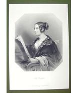 QUEEN VICTORIA'S Court Beauty Lady Augusta Gordon - SUPERB Antique Print - $17.64