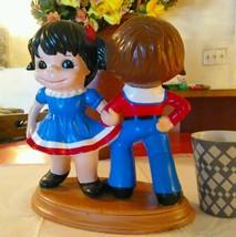 Vintage Boy Girl Ceramic Statue Country Dancing Home Decor ATLANTIC  MOLDS  - $125.00