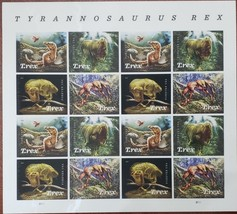 Tyrannosaurus Rex - 2019 USPS 16 Forever Stamps Sheet - $11.95