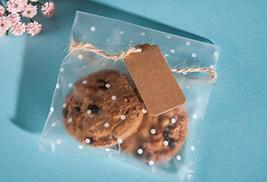 200Pcs White Dots Cellophane Bakery Cookie Candy Bags with 200 Thank You Sticker image 7