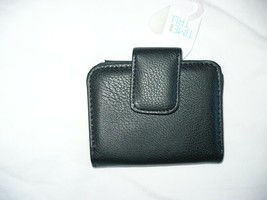 Time And Tru Ladies Two Fold Wallet Solid Black Color ID Viewer CC Slots... - €9,91 EUR
