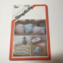Simplicity 5782 Crochet Accessories Pillow Tissue Box Cover Bowl Sachet Hangers - $11.64