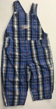 Carters 6-9 M Child Of Mine Overalls Plaid Blue White Red Pants Boys - $15.00