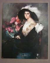 ITALIAN BEAUTY Fancy Dress Bouquet of Flowers - COLOR Antique Print by A... - $21.60