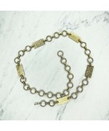 """Gold Tone Floral Engraved Bar Concho Belly Body Chain Belt One Size 25""""-36"""" - $17.44"""