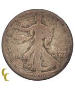 1916-D Silver Walking Liberty Half Dollar 50C (Good, G Condition) - ₹3,517.82 INR