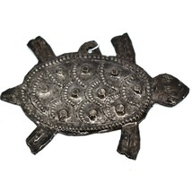 Croix Des Bouquets Nautical Sea Turtle Haitian Metal Drum Christmas Ornament