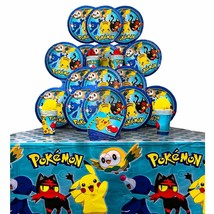 B-THERE Party Pack Bundle of Pokemon Party Supplies, Seats 16 - Napkins,... - $24.49