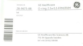 BAG OF 2 NEW GE HEALTHCARE 28-9675-88 O-RINGS 2.5x0.5 FPM/FKM 28967588 image 1