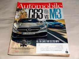 Automobile Juin 2015 Voiture Revue Mercedes Benz AMG C63 Vs BMW M3, 200 Mph - $9.13