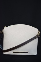 NWT! Brahmin Mini Duxbury Shoulder Bag in Crème Saint Germaine. Embossed Leather - $179.00