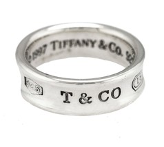 643d6049e Ladies Tiffany & Co. 1837 925 Sterling Silver Concave Band Ring Size: 5