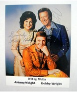 Kitty Wells Johnny Wright Bobby Wright Signatures Vintage Autographed 8x... - $6.93