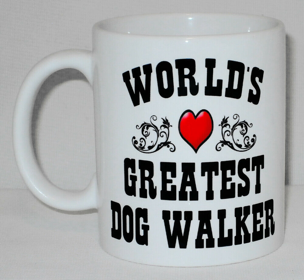 World's Greatest Dog Walker Mug Can Personalise Great Canine Breeder Lover Gift