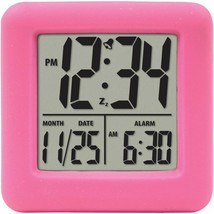 Equity by La Crosse Soft Cube LCD Alarm Clock (Pink)  70902 - $16.99