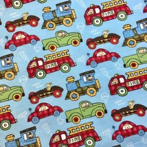 Cars Trucks Vehicles Flannel Fabric Lil Ones Dena Designs Fabric Traditions 1 YD - $9.50