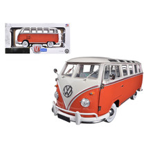 1960 Volkswagen Microbus Deluxe USA Model Red 1/24 Diecast Model by M2 M... - $51.53