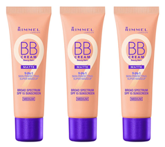 (3x) RIMMEL BB CREAM MATTE 9-in-1 Skin Perfecting Balm Makeup SPF15 - ME... - $14.91