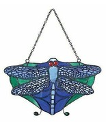 """Louis Tiffany 7""""W Dragonfly Insect Hanging Suncatcher Stained Glass Art ... - $34.99"""