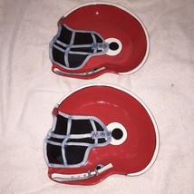 TAILGATING AMBIANCE COLLECTION Red  Football Helmet Shaped Ceramic Servi... - $9.90
