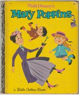 Walt Disney's Mary Poppins 1964 Vintage Little Golden Book D113 - $14.84