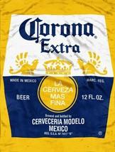 Corona Bottle Label Micro Rachel Throw Blanket measures 46 x 60 inches - $19.75