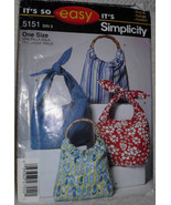 Simplicity 5151 Beach Bags Shopping bags Purse Tote Bag Shoulder Bag Eas... - $6.00