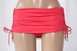 NEW Calvin Klein WMN Watermelon CG6BS118 Shirred Side Skirted Btm Swim Skirt XL - $21.77