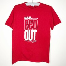 Samford University Basketball Red Out 2019 T Shirt Mens Size Medium M - $4.98
