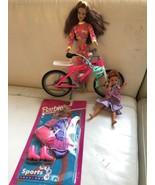 Vintage 1995 NiP Sports Fashions ,Barbie Dolls,Hot Pink Barbie Bike - $49.99
