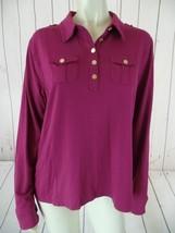 Tommy Hilfiger Shirt Top XL Magenta Stretch Knit Pullover Modal Spandex - $47.52