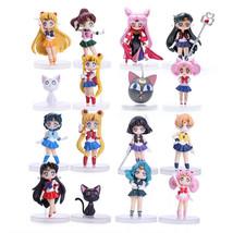 16pcs/set Sailor Moon Tsukino Usagi Mars Venus Saturn... PVC Figure Toys - $41.78