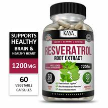 Natural Resveratrol Caps Anti-Aging Antioxidants Brain Support Skin Organic - $34.78