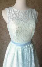 LIGHT BLUE High Low Lace Dress Sleeveless SomethingBlue Wedding Bridesmaid Dress image 3