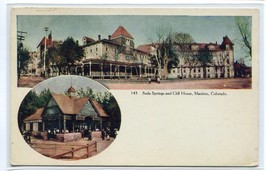 Soda Springs Cliff House Manitou Colorado 1910c postcard - $6.88