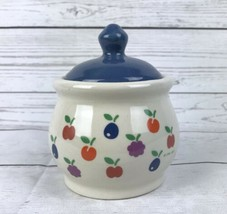 New Avenues Orchard Sugar Bowl & Lid 1984 CHD Fruit Design - $13.07