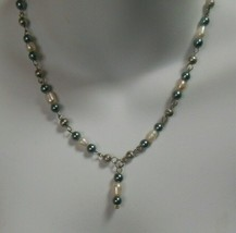 """Vintage Signed LBVYR Pearl Necklace 21.5"""" -Adjustable - $18.32"""